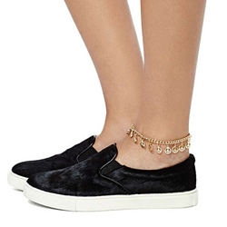 Golden Geometric Shaped Anklet