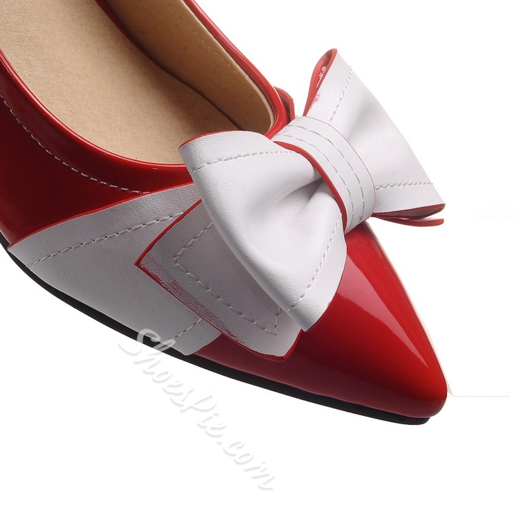 Bowtie Contrast Color Stiletto Heels