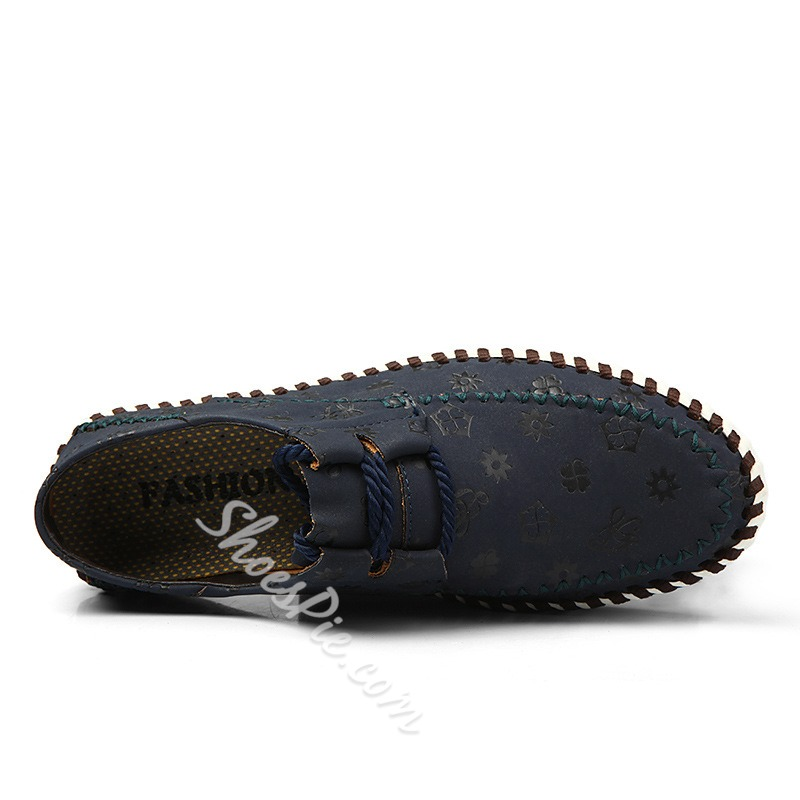 Assorted Material Thread Deocration Loafer