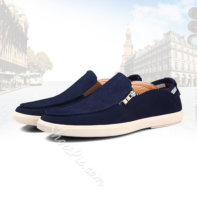 Solid Color Cloth Slip-on Loafers