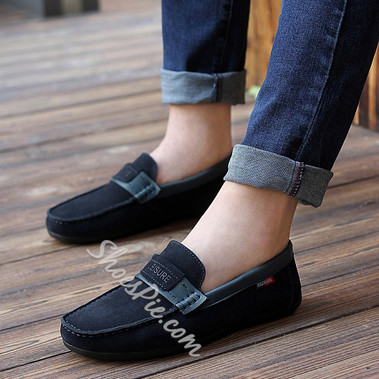 Thread Decoration Square-Toe Loafer