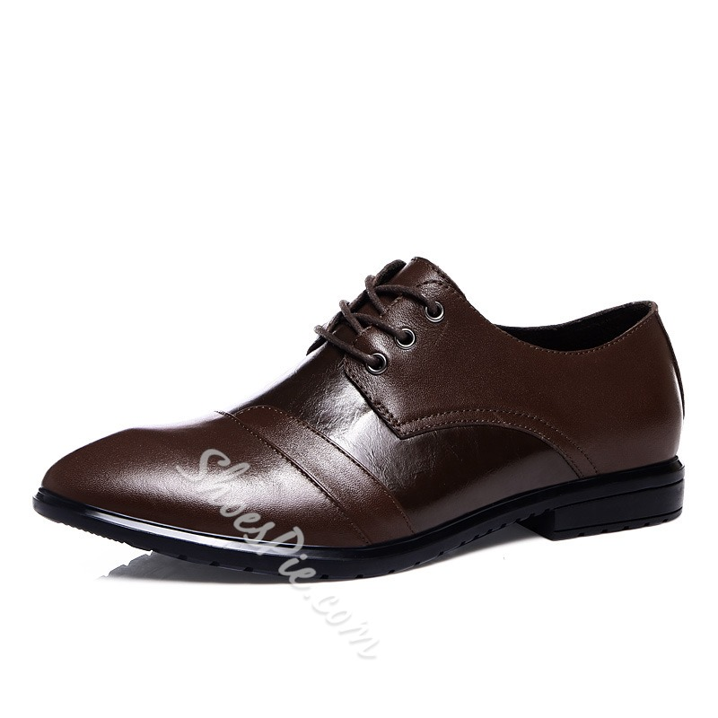 ShoespieLeather Lace up Men's Oxfords