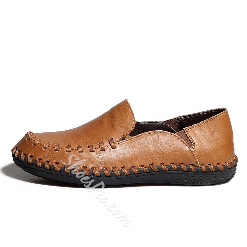 Pure Color Genuine Leather Loafer