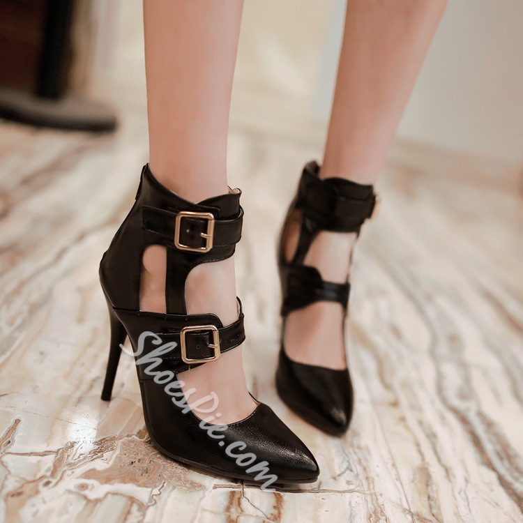 Fabulous Buckle Decorated Dress Sandals