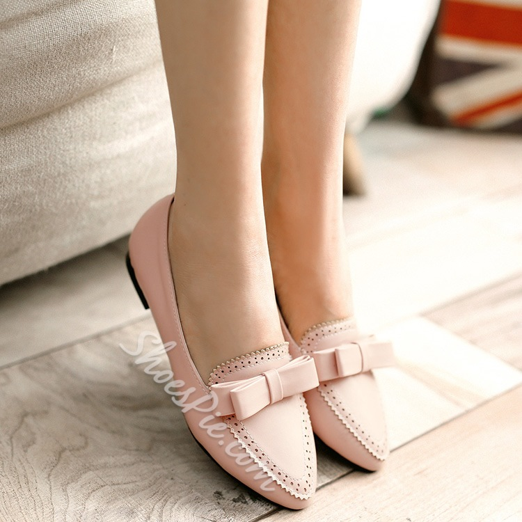 Shoespie Sweet Lace Point Toe Plus Size Flats