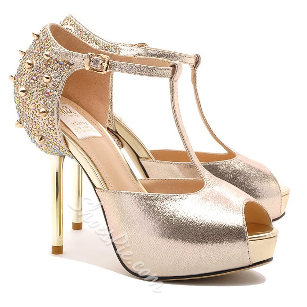 Shoespie Sexy Halter Rivet Peep Toe Stilletto Heel Dress Sandal