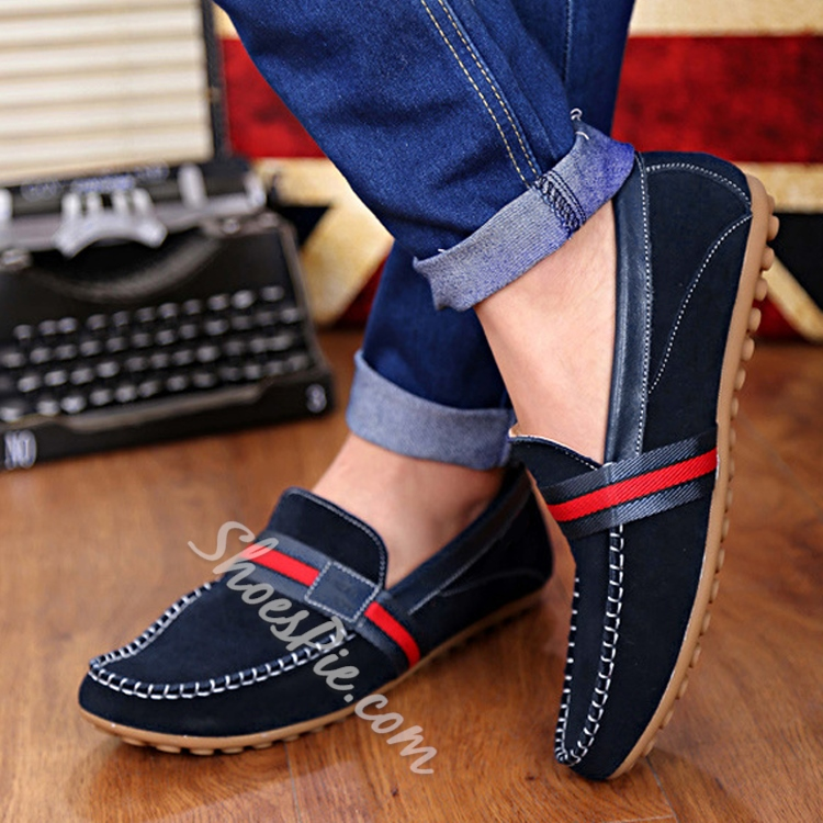 Solid Color Slip-on Loafers