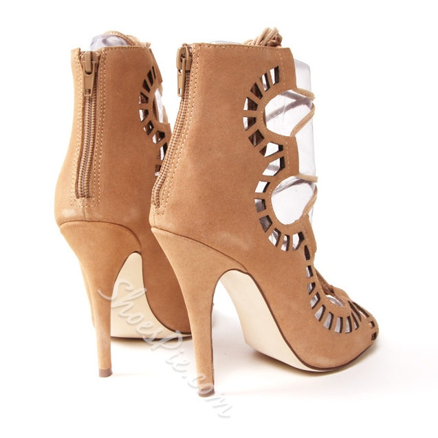 Shoespie Fashion Lace Up Peep Toe Stiletto Heel Sandal