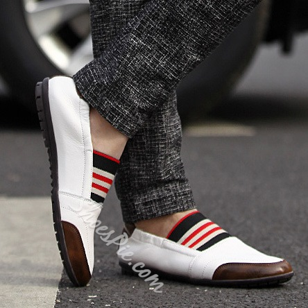 Fashionable Stripes Comfortable Loafers
