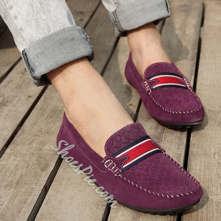 Solid Color Lace-up Loafers