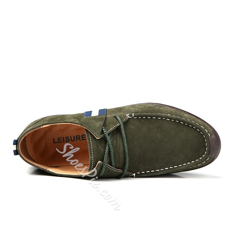 Assorted Material Thread Decoration Loafer