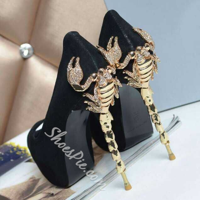Special Fashion High-heel Prom Shoes with Rhinestone