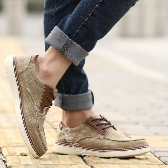 Fashion Solid Color Lace-up Sneaker