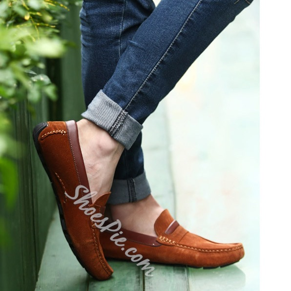 Assorted Material Suede Loafer