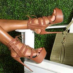 Shoespie Fashion Solid Color Platform Sandals