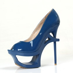 Hollow Peep-Toe Platform Stiletto Heels