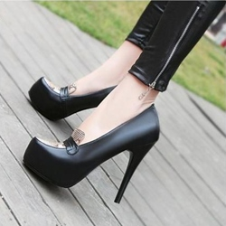 Shoespie Elegant High Platform Leather Stiletto Heels