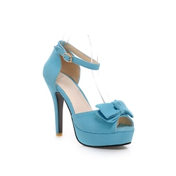 Bowknot Peep-Toe Stiletto Heel Ankle Strap Sandals