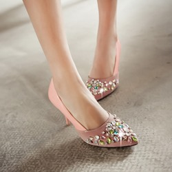 Shinning Colorful Rhinestone Stiletto Heels