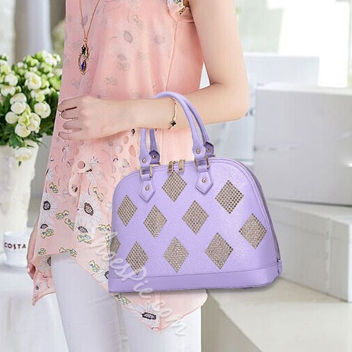 Shoespie Candy Color Shell Shaped Handbag