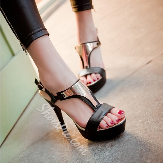 Shoespie Chic Stiletto Heel Platform Sandal