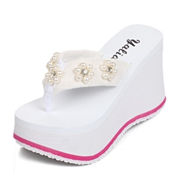 Shoespie Wedge Heel Thong Sandal Slipper