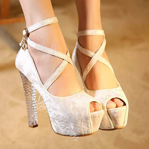 Shoespie Attractive Crystal Heels