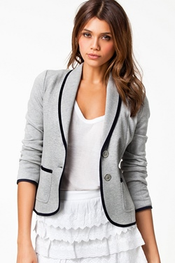 Plain Long Sleeve Short Women's Casual Blazer