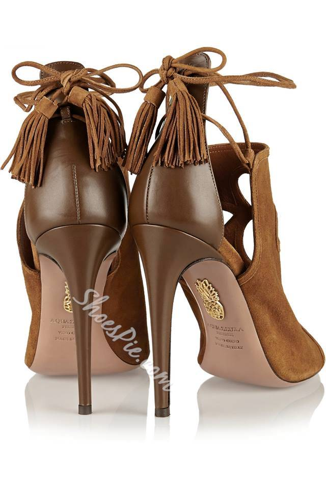 Shoespie Fashionable Lace-up Peep-toe Heel /Stiletto Heel Sandals