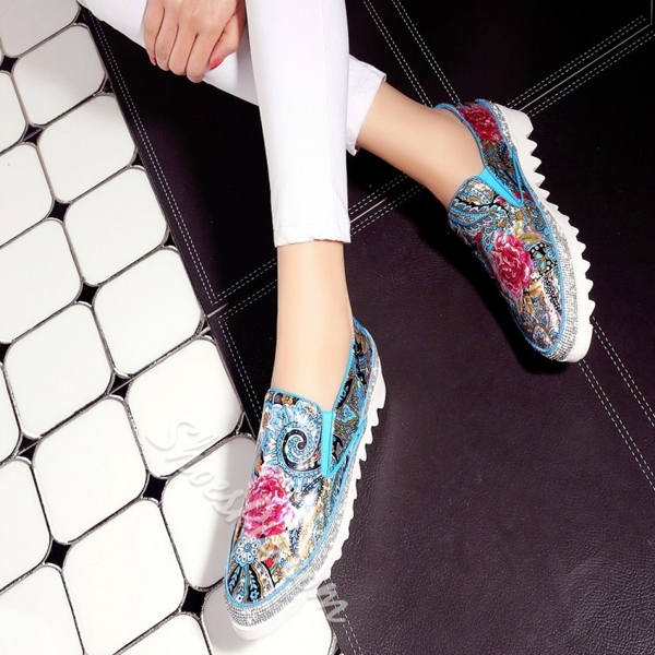 Shoespie New Arrival Flower-Print Flats