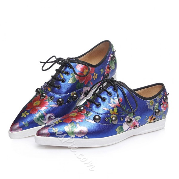 Shoespie Fashionable Flats With Flower-Print