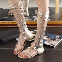 Shoespie Sexy Lace up Flat Sandal