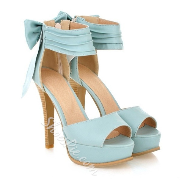 Shoespie Sweety Cheap Stiletto Heel Bowtie Platform Sandal