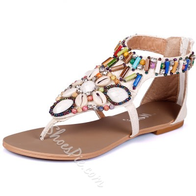 Shoespie Folk Style Thong Flat Sandals