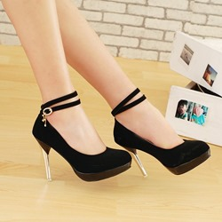 Shoespie Ankle Wrap Stiletto Heels