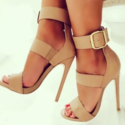 Shoespie Buckle Ankle Strap Stiletto Sandals