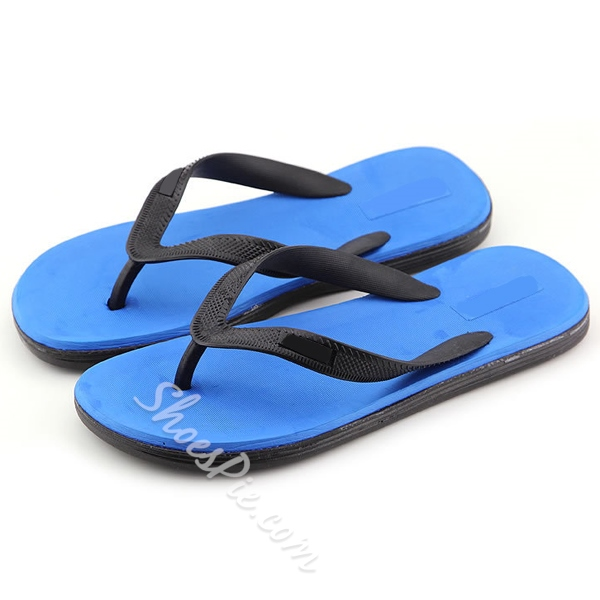 Shoespie Summer Solid Thong Men's Slippers