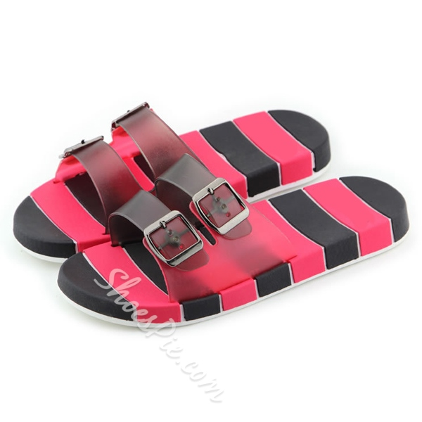 Shoespie Buckle Decoration Thong Men's Slipper