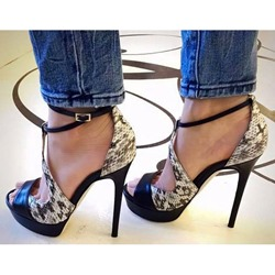 Shoespie Snakeskin Assorted Color Dress Sandals