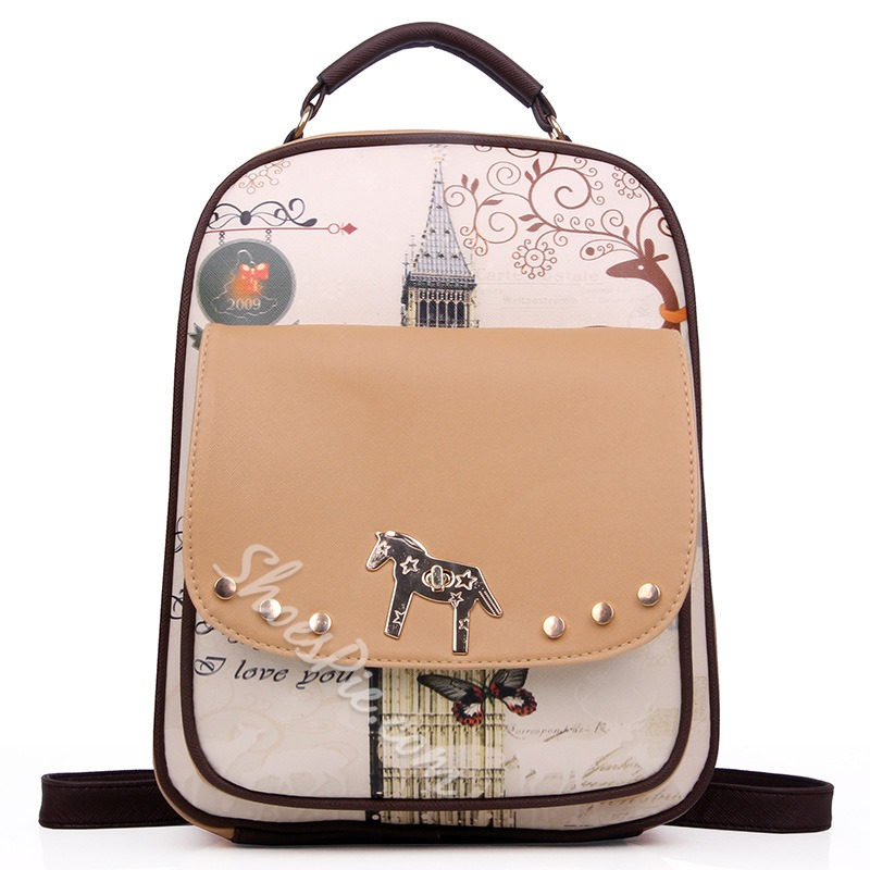 Shoespie Cartoon Rivet Backpack