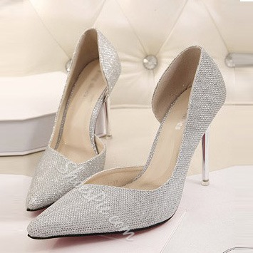 Shospie Sequined Cloth Stiletto Heels