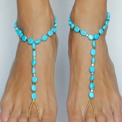 Shoespiel Beading Thong Anklet