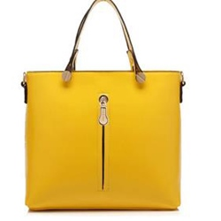 Shoespie Candy Color Leather Tote / One Shoulder Handbag