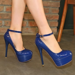 Shoespie Ankle Wrap Stiletto Platform Heels