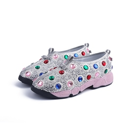 Shoespie Chic Rinestone Flat Canvas Shoes