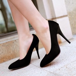 Shoespie Concise Pointed-Toe Stiletto Heels