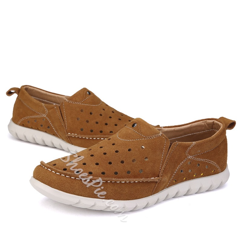Shoespie Comfortable Suede Pure Color Men's lSandals