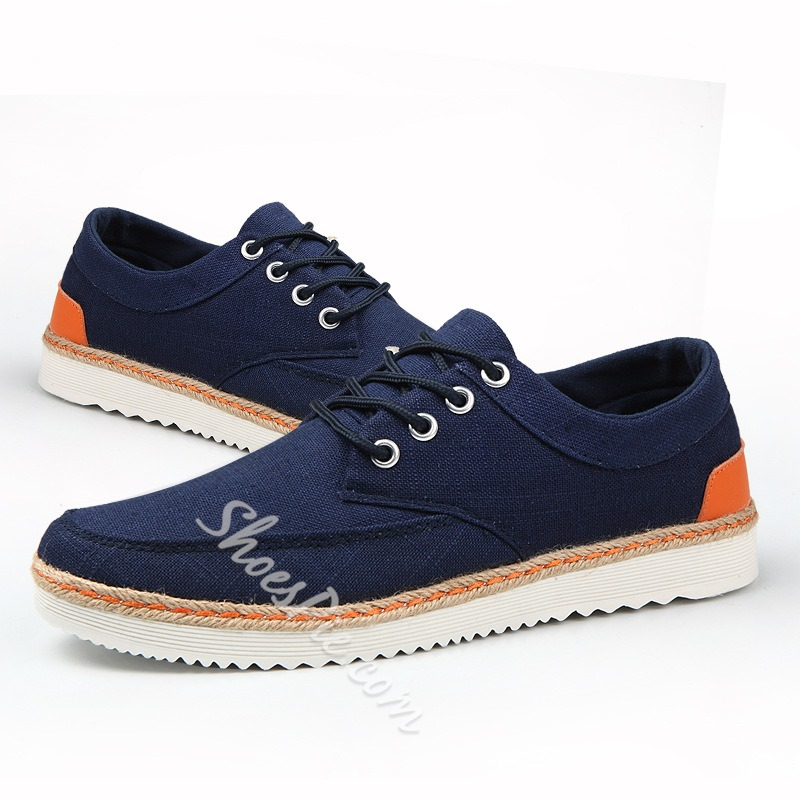 Shoespie Comfortable Canvas Lace-Up Men's Sneakers