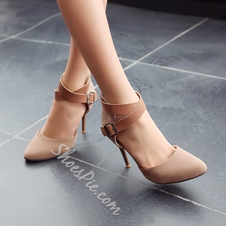 Shoespie Cross Wrap Pointed-toe Stiletto Heels