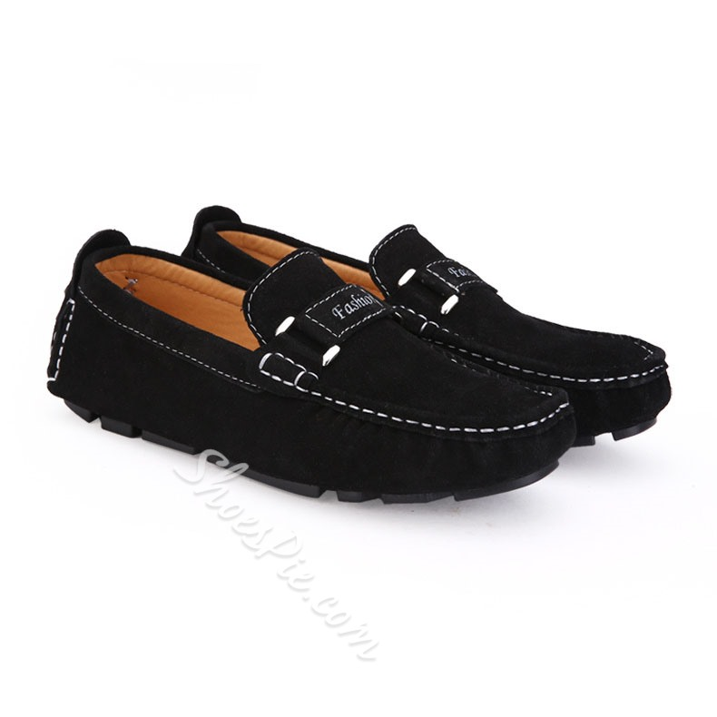 Shoespie Suede Pure Color Men's loafers